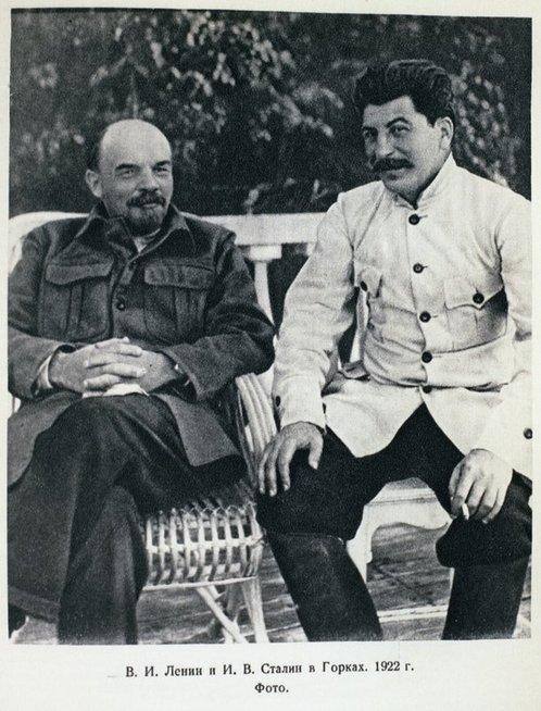 V. Leninas ir J. Stalinas