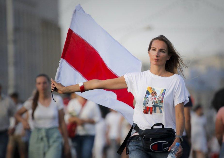 Minskas tokios minios dar nematė – šimtatūkstantinis maršas reikalavo laisvės ir Lukašenkos pasitraukimo