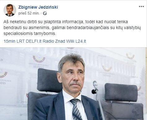 """Zbigniew Jedziński (nuotr. """"Facebook"""")"""