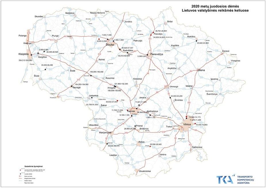Juodųjų dėmių žemėlapis