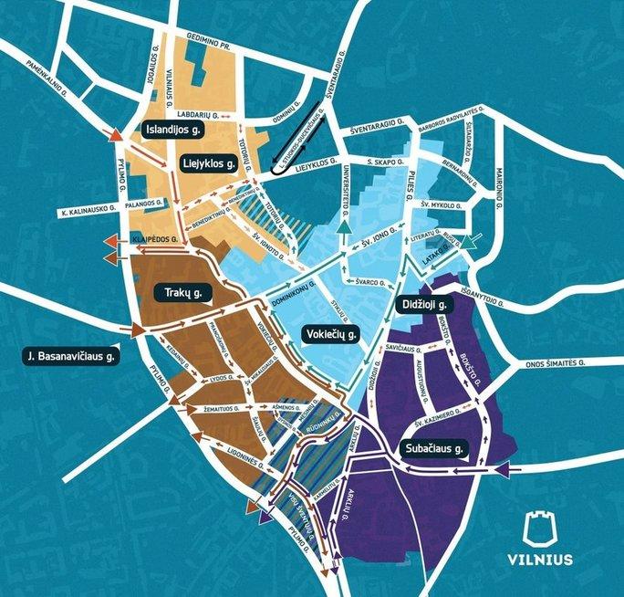 Eismo pakeitimai Vilniuje