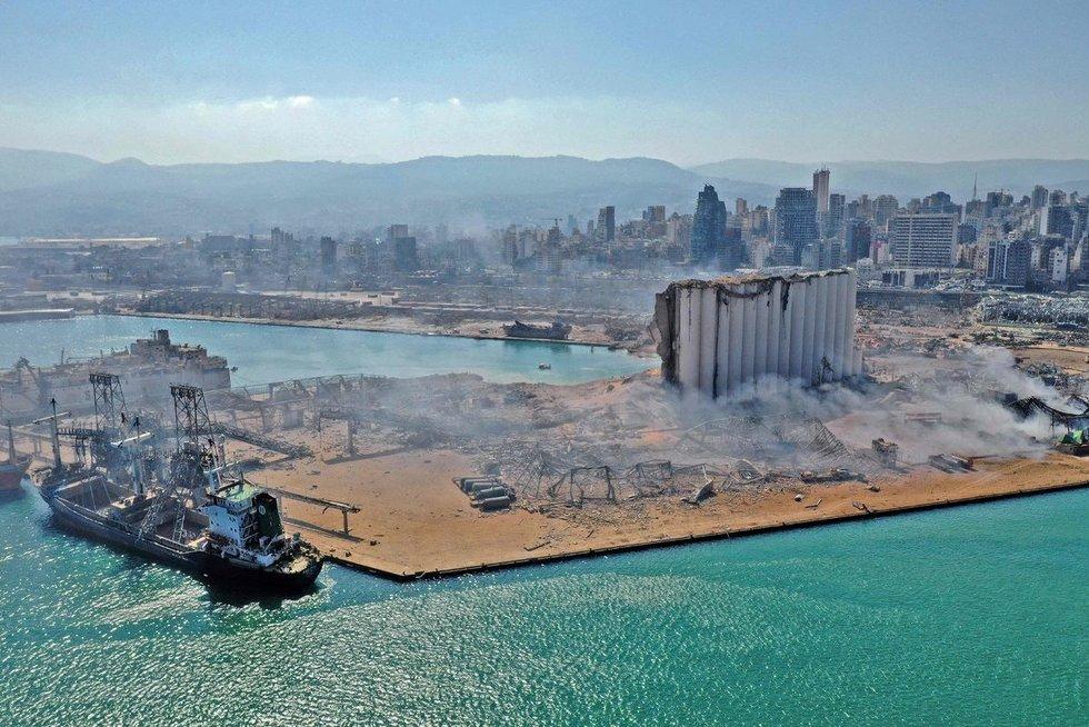 Sprogimo Beirute pasekmės (nuotr. SCANPIX)
