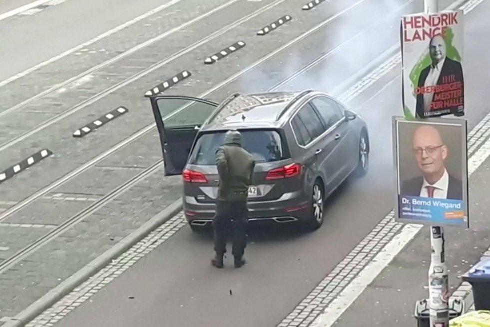 Išpuolis Vokietijoje (nuotr. stop kadras)