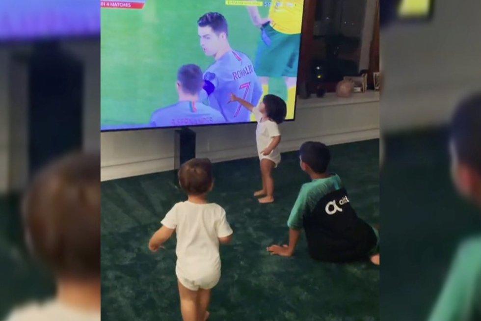 Ronaldo vaikai (nuotr. stop kadras)