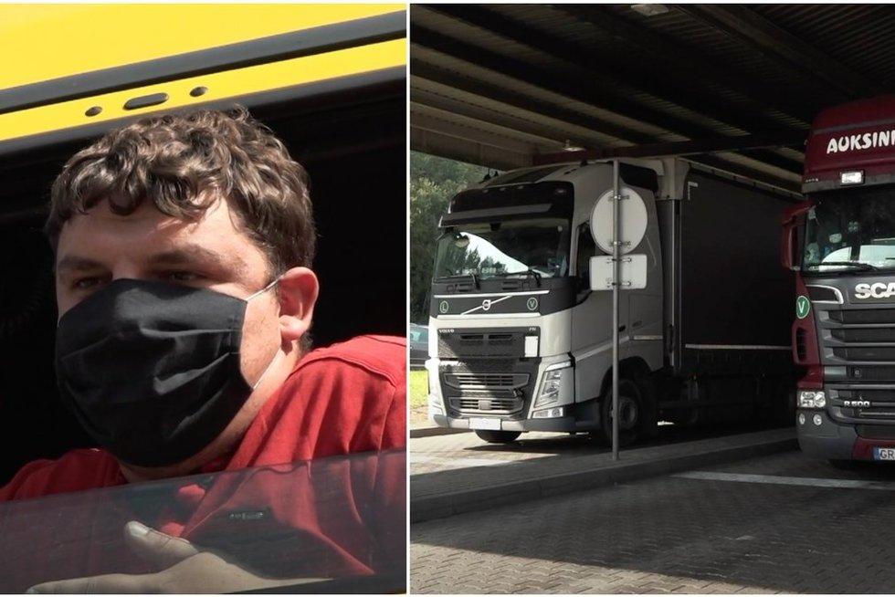 Iš Lietuvos-Baltarusijos pasienio – vilkikų vairuotojų liudijimai: muitininkai ragina išmesti prekes (tv3.lt koliažas)