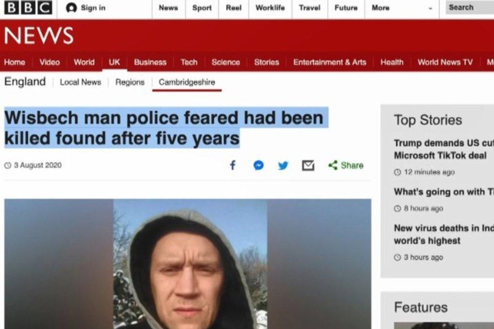 Aiškėja, kur 5 metus buvo dingęs ieškomas lietuvis