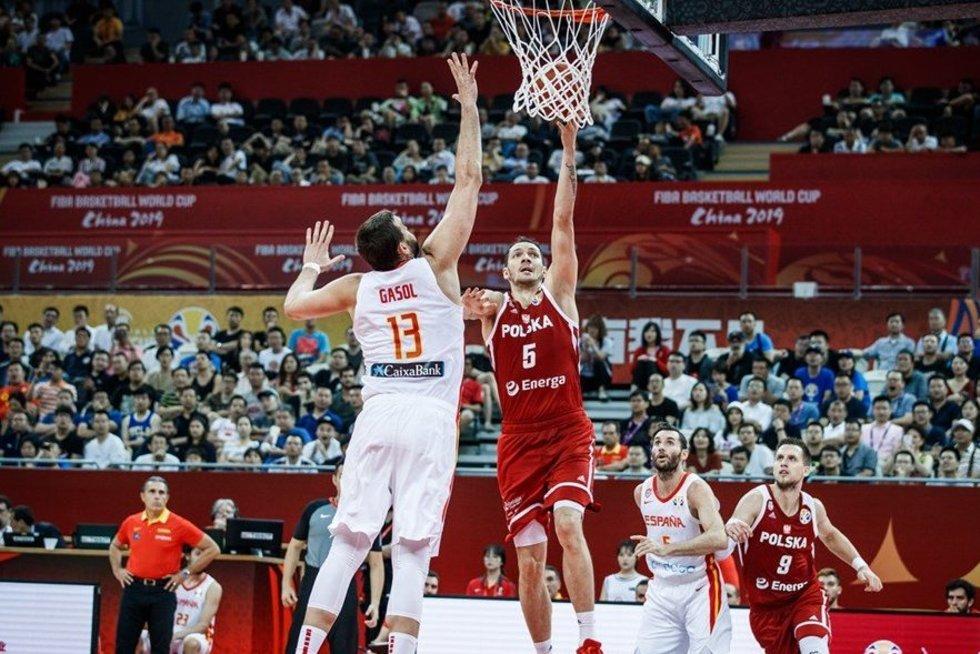 Rungtynių Ispanija-Lenkija akimirka (nuotr. FIBA)