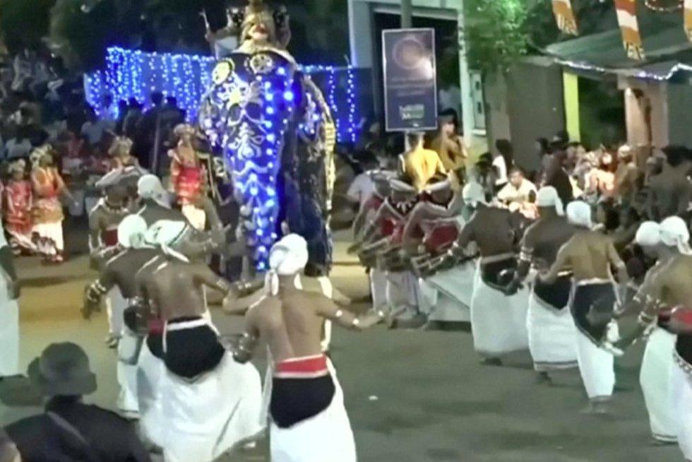 Nelaimė Šri Lankoje (nuotr. stop kadras)