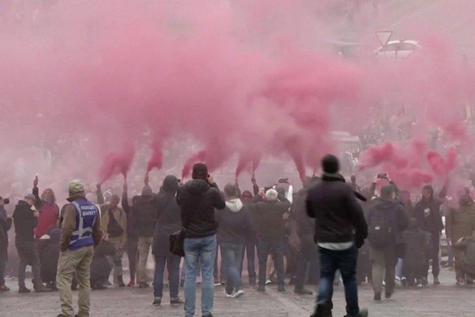 Protestai Ukrainoje (nuotr. stop kadras)