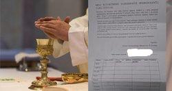 Tėvai priblokšti: bažnyčia nurodė, kiek jie turi aukoti už vaikų parengimą sutvirtinimui