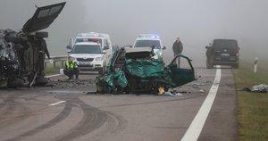 Molėtų rajone per avariją žuvo žmogus, dar 5 sužaloti (nuotr. Broniaus Jablonsko)