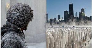 JAV užklupo stingdančio šalčio banga: vien nuo vaizdų darosi žvarbu
