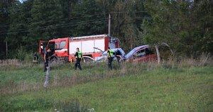 Per avariją Molėtų rajone žuvo žmogus (nuotr. Bronius Jablonskas/TV3)