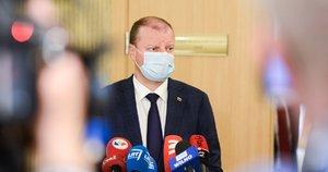 Koalicijos taryboje S. Skvernelis, R. Karbauskis, A. Veryga, G. Kirkilas ir kiti (nuotr. Fotodiena/Justino Auškelio)