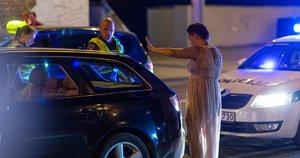 Konstitucijos prospekte įkliuvo iš avarijos sprunkanti vairuotoja (nuotr. Broniaus Jablonsko)