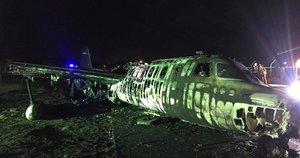 Sprogo priemones kovai su koronavirusu gabenęs lėktuvas: žuvo visi keleiviai (nuotr. SCANPIX)