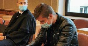 Merginą sužalojęs jurbarkiškis teisme (nuotr. TV3)