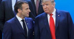 Emanuelis Macronas ir Donaldas Trumpas (nuotr. SCANPIX)