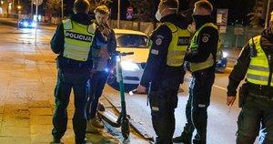 Savaitgalio naktimis Vilniaus kelių policijai daugiausiai įkliuvo girtų paspirtukų vairuotojų (nuotr. Broniaus Jablonsko)
