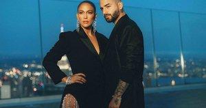 Jennifer Lopez ir Maluma (nuotr. Organizatorių)
