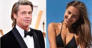 Brad Pitt ir Nicole Poturalski (tv3.lt fotomontažas)
