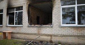 Padegta mokykla (nuotr. Policijos)
