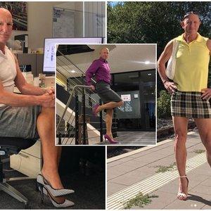Vedęs trijų vaikų tėvas puošiasi sijonais ir aukštakulniais: priežastis stebina ne vieną