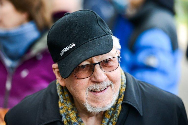 88-ąją sukaktį minintis VytautasLandsbergis tarė jautrius žodžius (nuotr. Fotodiena/Justino Auškelio)