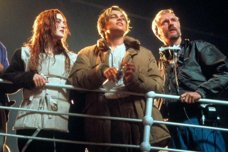 Kate Winslet, Leonardas DiCaprio ir Jamesas Cameronas (nuotr. Vida Press)