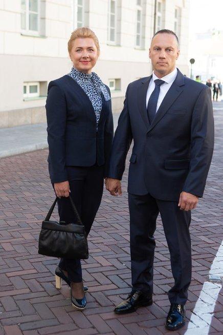 Linas Pernavas su žmona Jūrate