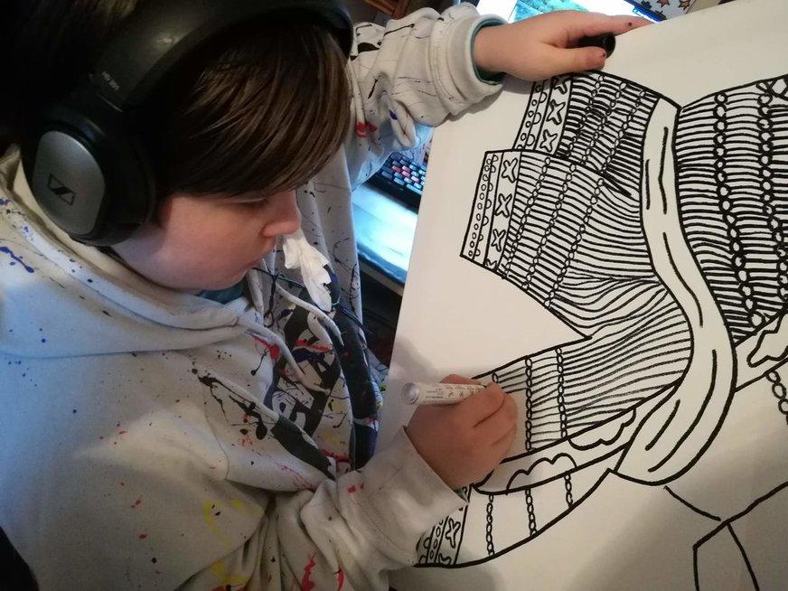 10-mečio Kasparo sėkmė: jo piešiniai puošia dizainerių drabužius