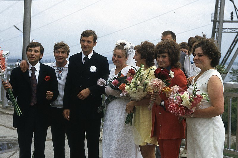 Vestuvės sovietmečiu (Wikimedia.org)
