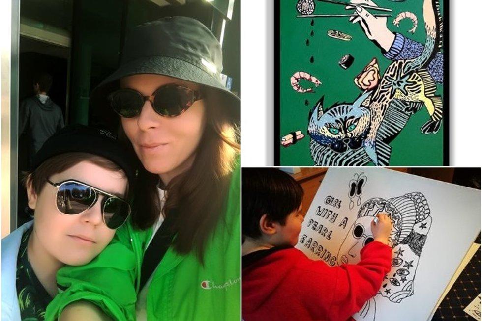 10-mečio Kasparo sėkmė: jo piešiniai puošia dizainerių drabužius (nuotr. asm. archyvo)