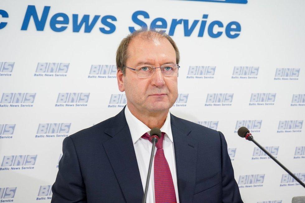 Darbo partija pristatė rinkimų programą su V. Uspaskichu (Fotodiena/ Viltė Domkutė)