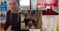 Lietuvaitės gamintas namelis dukroms atima žadą: jame – mini baldai, laiptai ir net turėklai