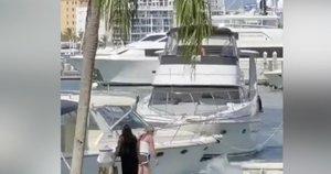 Vaizdelis laivų uoste šokiravo liudininkus: žmonės rėkė iš siaubo ir prašė sustoti (nuotr. stop kadras)