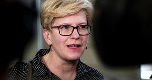 Ingrida Šimonytė balsuoja prezidento rinkimuose (Fotodiena/Justinas Auškelis)
