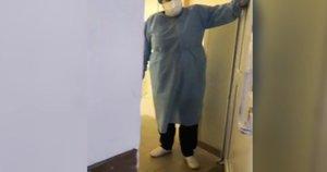 Neigiantys koronavirusą terorizuoja medikus: apie dešimt žmonių veržėsi į ligoninę (nuotr. stop kadras)