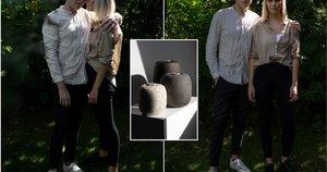 Greta ir Jonas savo rankomis lipdo urnas (tv3.lt fotomontažas)
