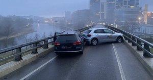 Policijos atstovas Ramūnas Matonis pateko į avariją (nuotr. Ramūno Matonio)