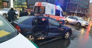 Automobilių avarija Vilniuje (nuotr. Broniaus Jablonsko)