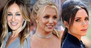 Sarah Jessica Parker, Britney Spears, Victoria Beckham (nuotr. SCANPIX)