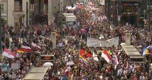 Protestai Europoje (nuotr. stop kadras)