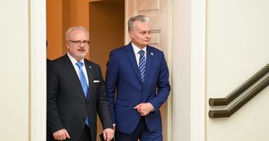 Nausėda susitiko su Latvijos prezidentu (nuotr. Prezidentūros)