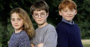"""Harry Potter"" žvaigždės –Ruper Grint, Daniel Radcliffe, Emma Watson (nuotr. SCANPIX)"