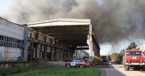 gaisras Alytuje (nuotr. Raimundo Maslausko)