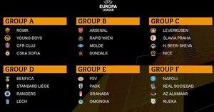 Europos lygos grupės (nuotr. Twitter)