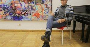 Šiaulietis Gintautas Gascevičius – daugybės muzikinių projektų iniciatorius ir dalyvis, audioperformansų kūrėjas. Sigitos Inčiūrienės nuotr.