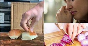 Svogūnų lupimo triukas (nuotr. Shutterstock.com)