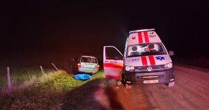 Nelaimė Vilniaus rajone: po eismo įvykio užgeso moters gyvybė (nuotr. Broniaus Jablonsko)